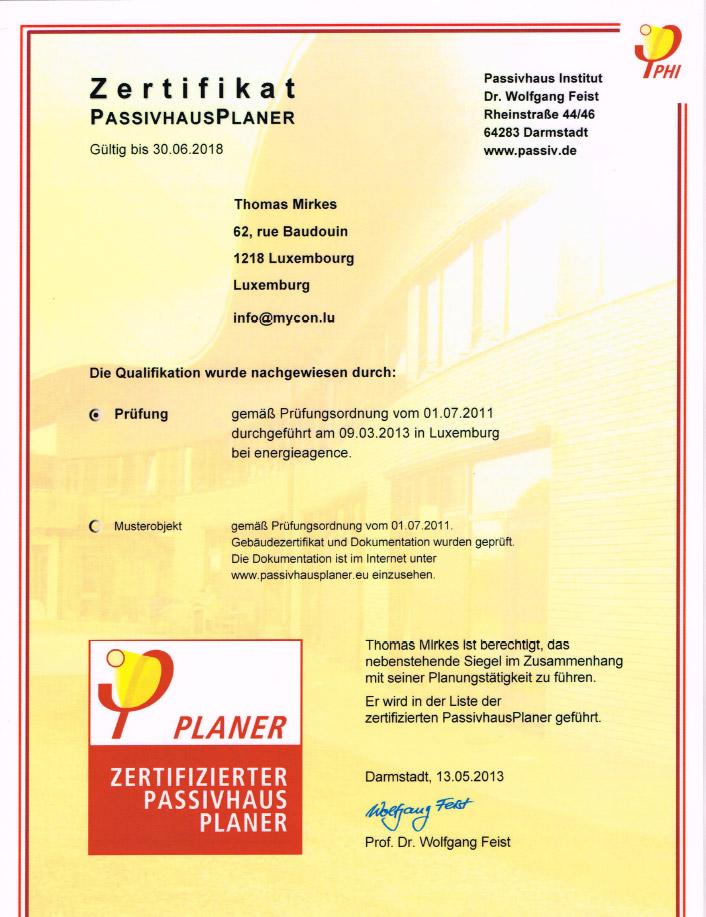 Zertifikat-PASSIVHAUSPLANER